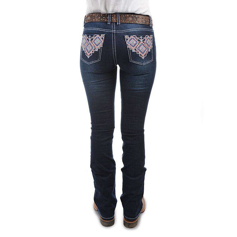 Pure Western Womens Macy Boot Cut Jean 34 Leg Midnight