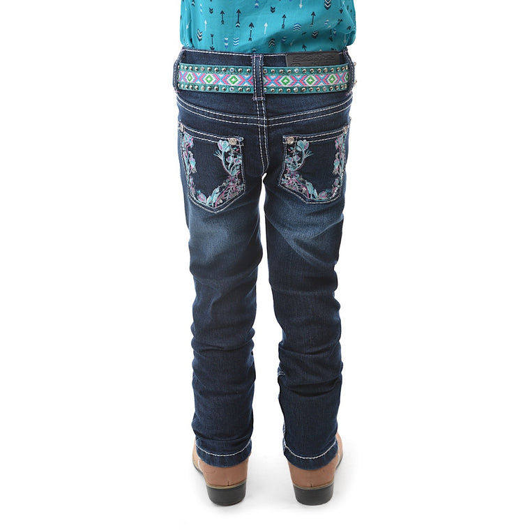 Pure Western Girls Madison Stretch Jean Slim Leg Midnight