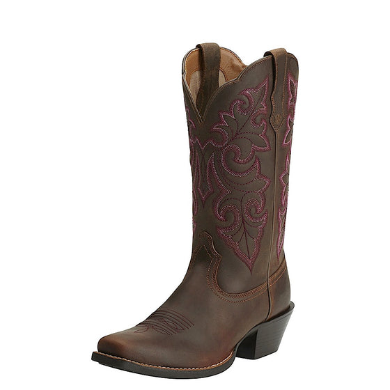 Ariat Womens Round Up Square Toe Powder Brown