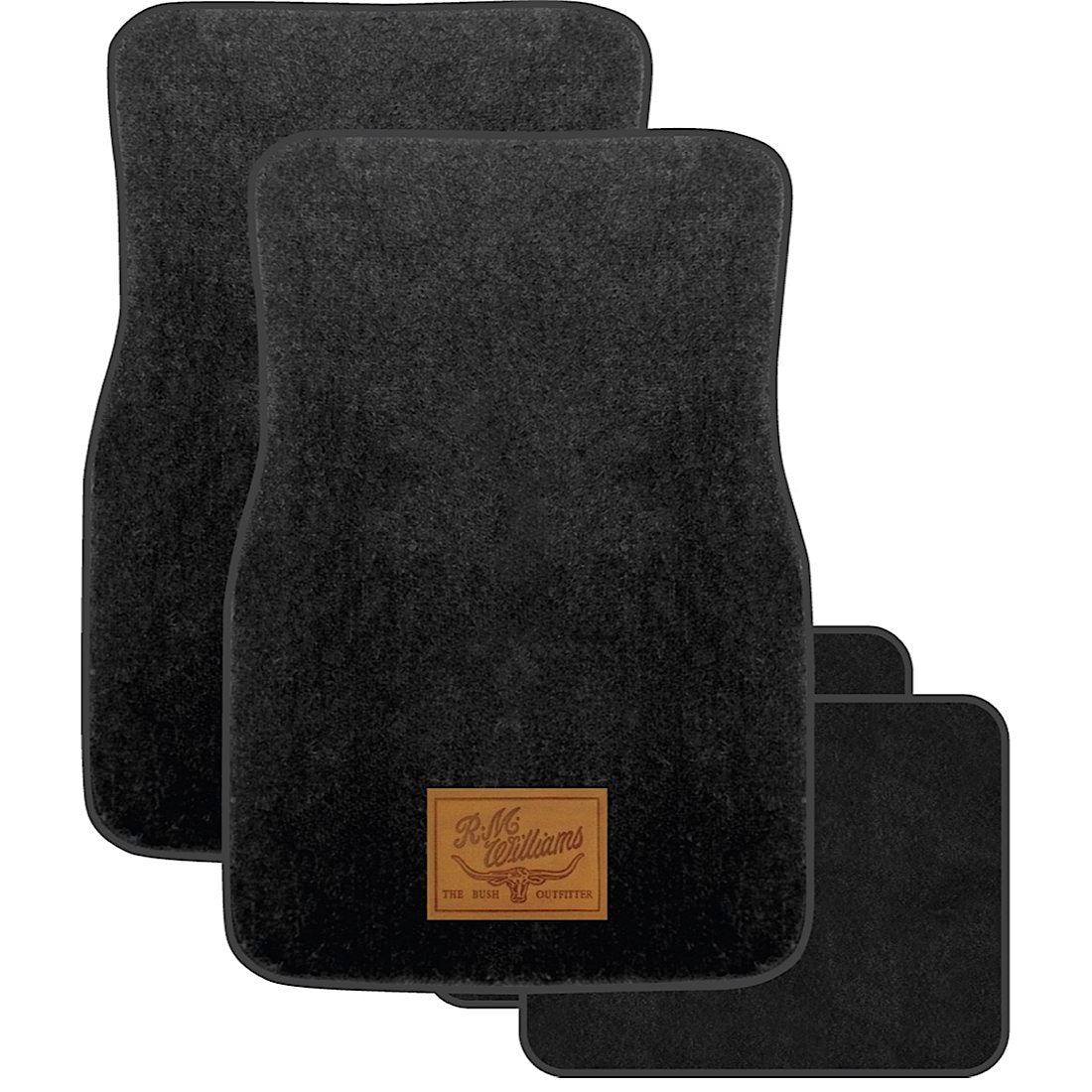 R.M.Williams Carpet Floor Mats Black