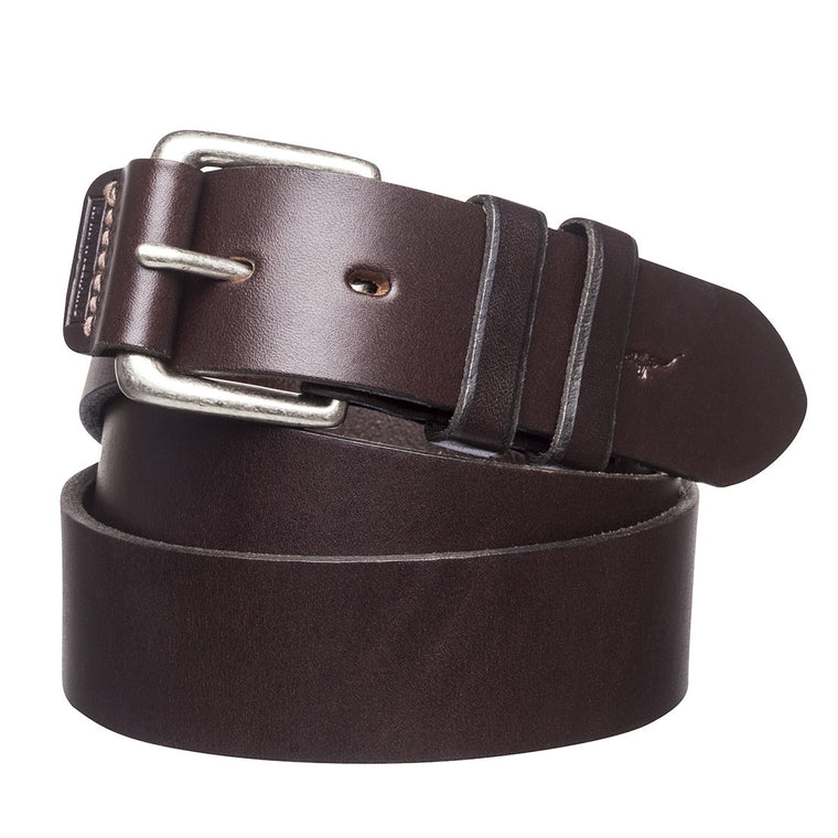 "R.M.Williams 1 1/2""Leather Covered Buckle Belt"