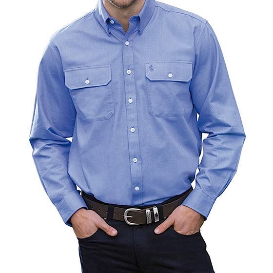 Thomas Cook Mens Classic Oxford 2 Pocket Shirt Wedgewood