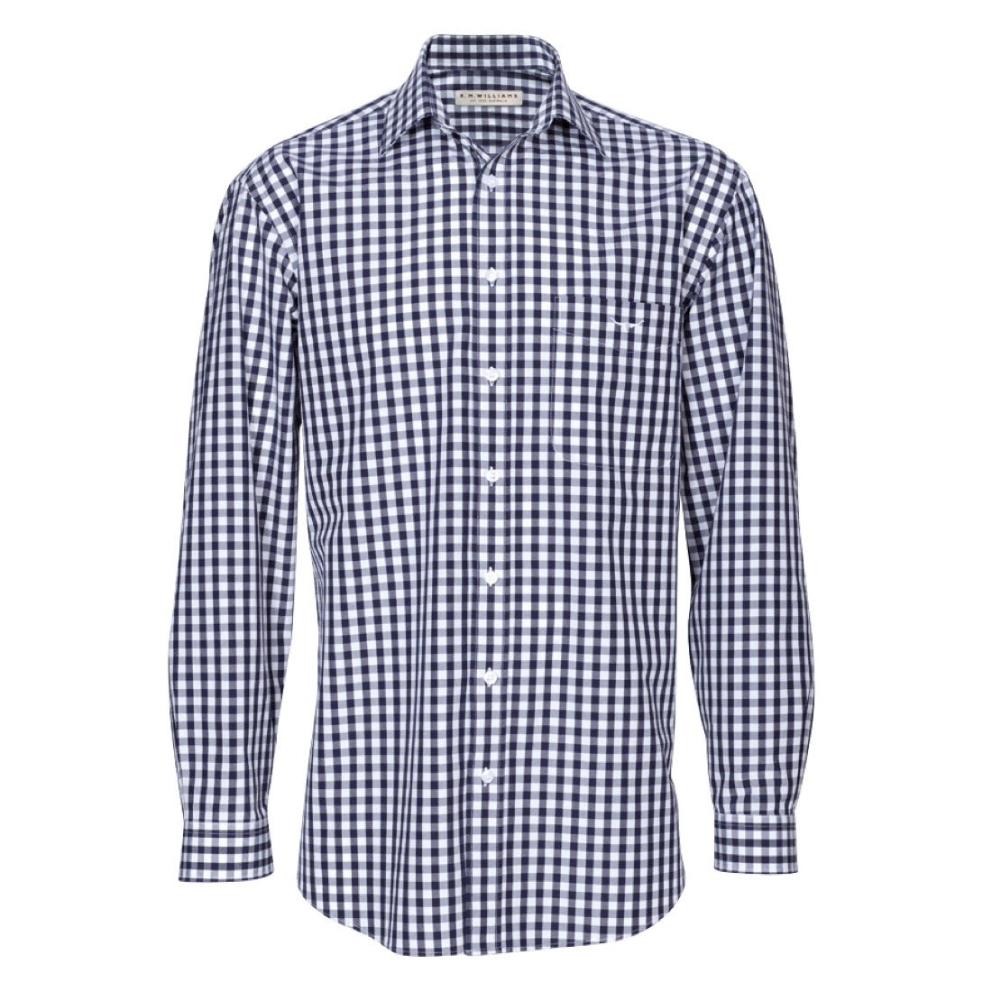 R.M.Williams Collins Shirt Navy/White Check Big Men