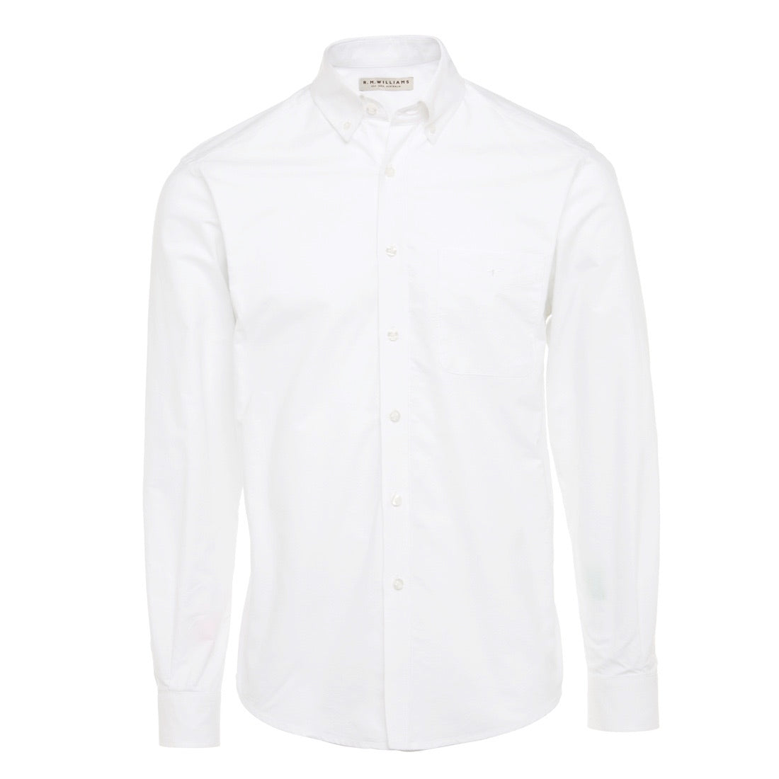 R.M.Williams Collins Shirt White Button Down Collar Regular fit