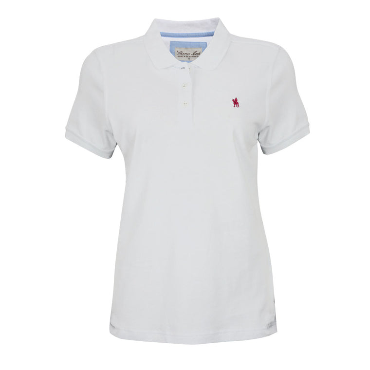 Thomas Cook Womens Classic Stretch Polo White