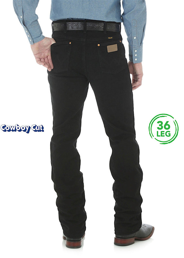 Wranglers Mens Cowboy Cut Slim Fit Jean Shadow Black