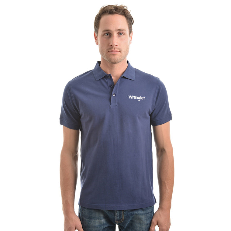 Wrangler Mens Benson Polo Navy