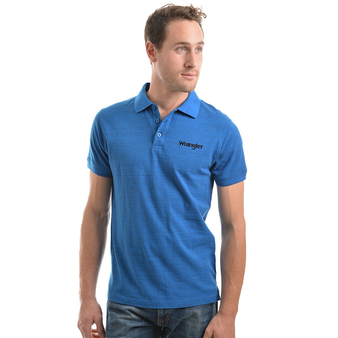 Wrangler Mens Benson Polo Royal Marle