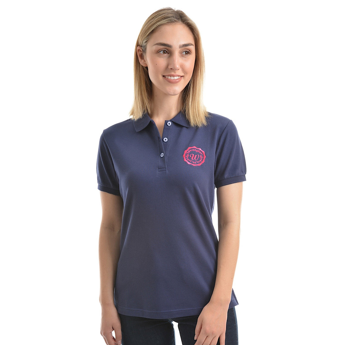 Wrangler Womens Tina Polo Navy