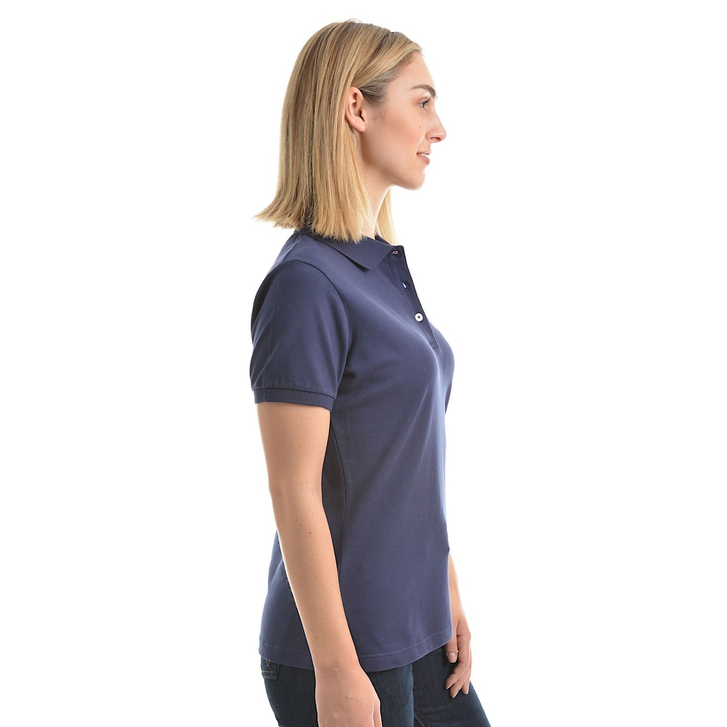 f1ee6583 Buy Wrangler Womens Tina Polo Navy - The Stable Door