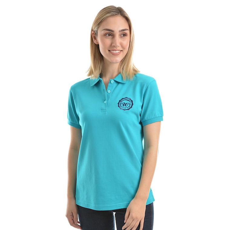 Wrangler Womens Tina Polo Teal