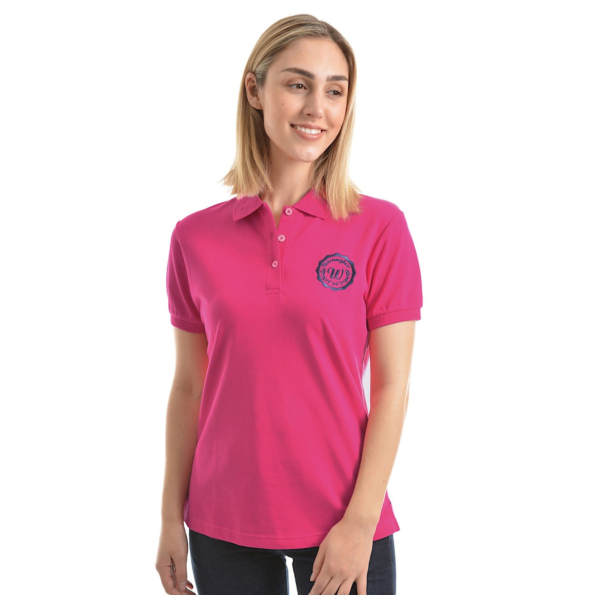Wrangler Womens Tina Polo Fuschia
