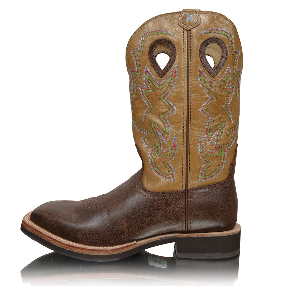Twisted X Mens Horseman Brown/Crystal