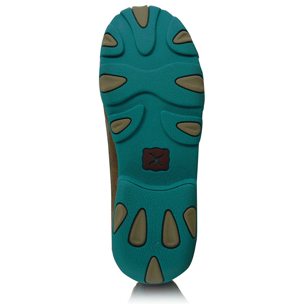 a6253cec82d ... Twisted X Womens Casual Driving Mocs Boat Slip On Bomber Turquoise ...
