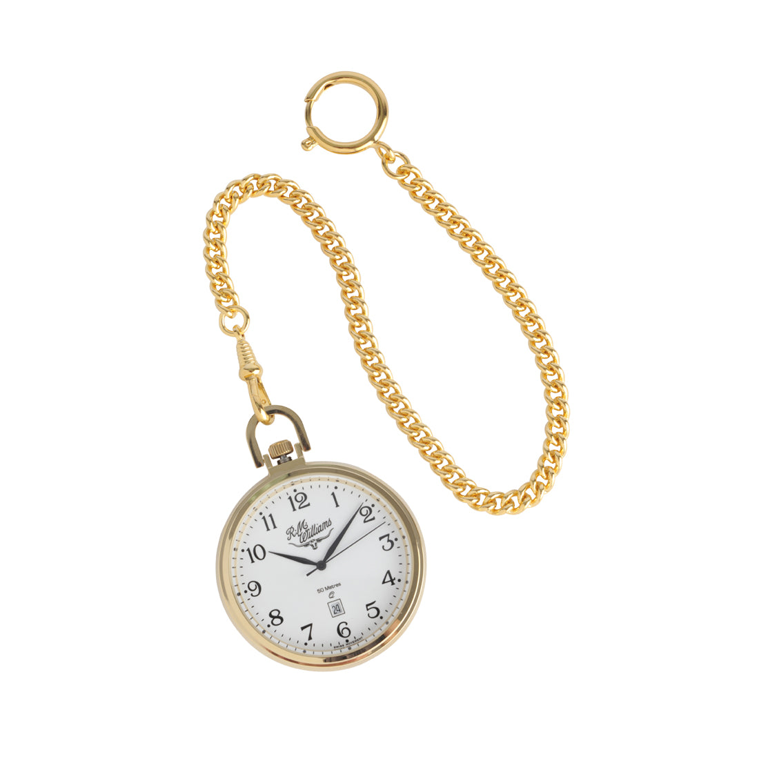 R.M.Williams Gold Small Pocket Watch