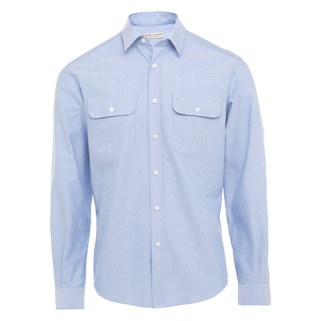 R.M.Williams Bourke Shirt Light Blue Regular Fit