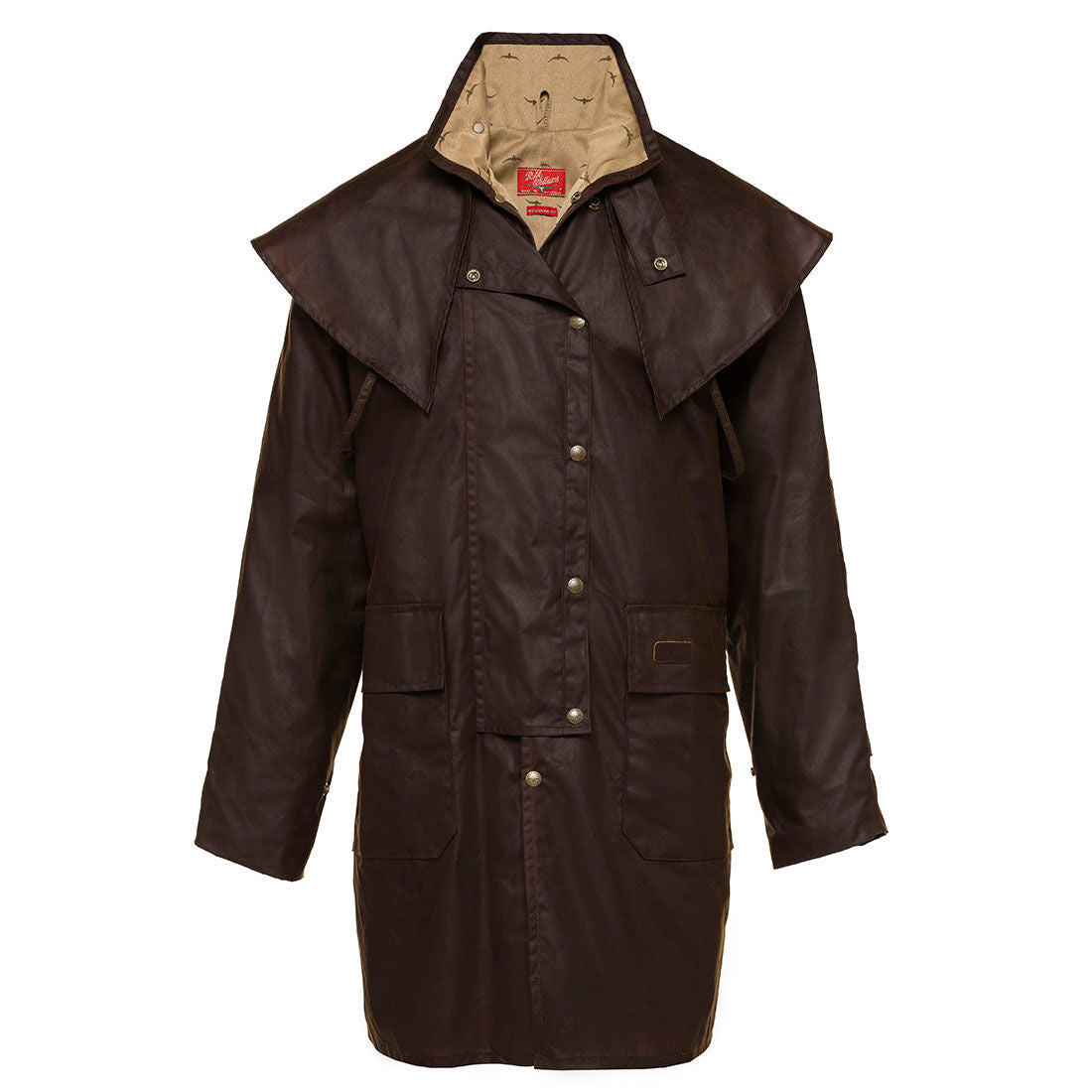 R.M.Williams 3/4 Length Oilskin Rouseabout Coat