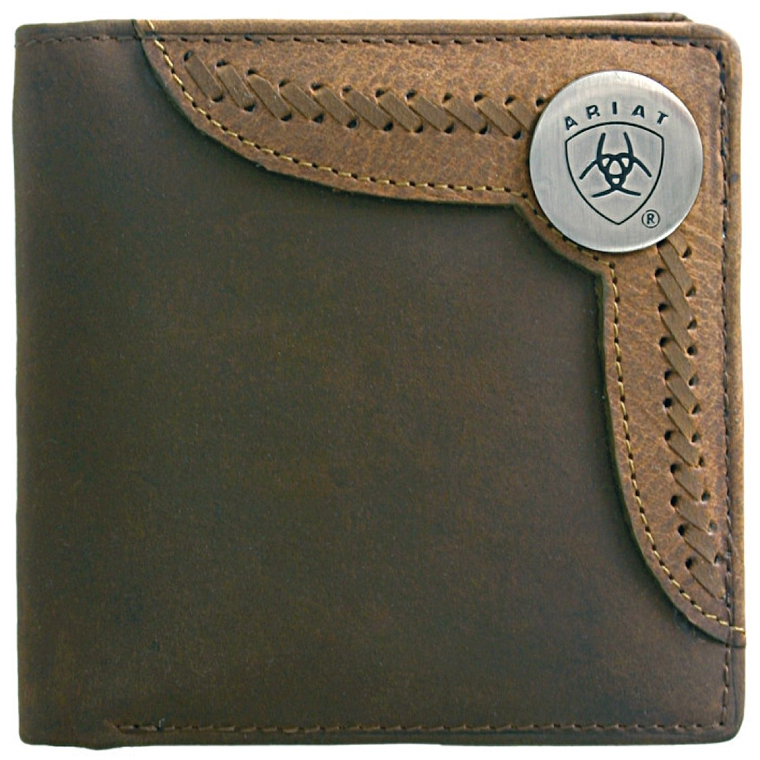 Bi Fold Wallet-Brown / Lite Tan