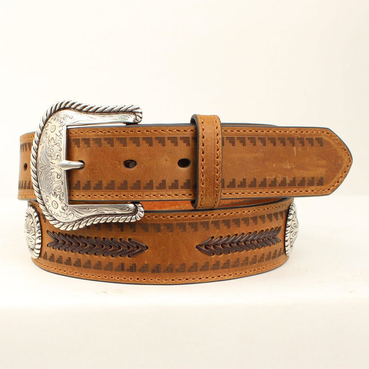 Ariat Unisex Stitched Belt Brown