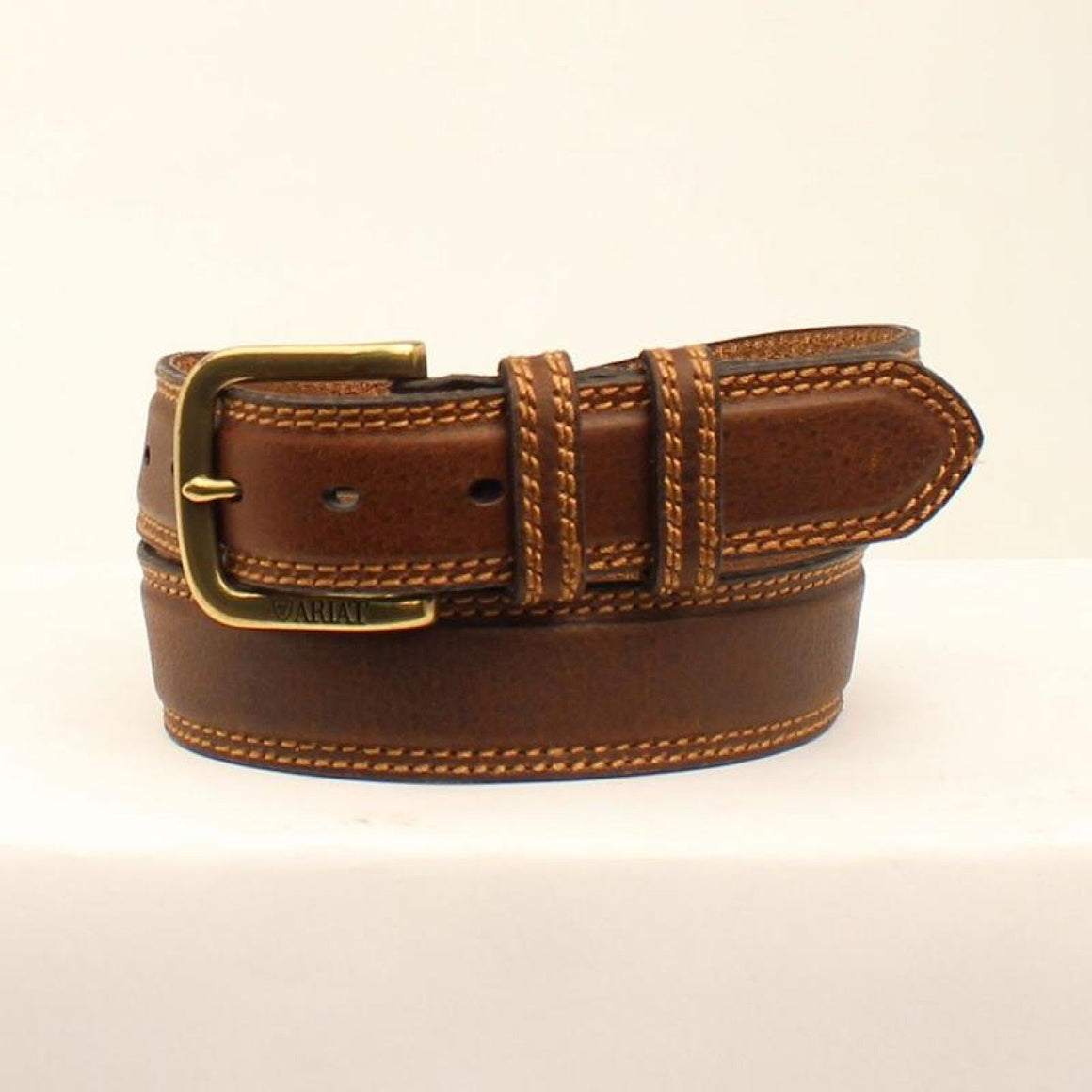 Ariat Unisex Double Stitched Belt Brown