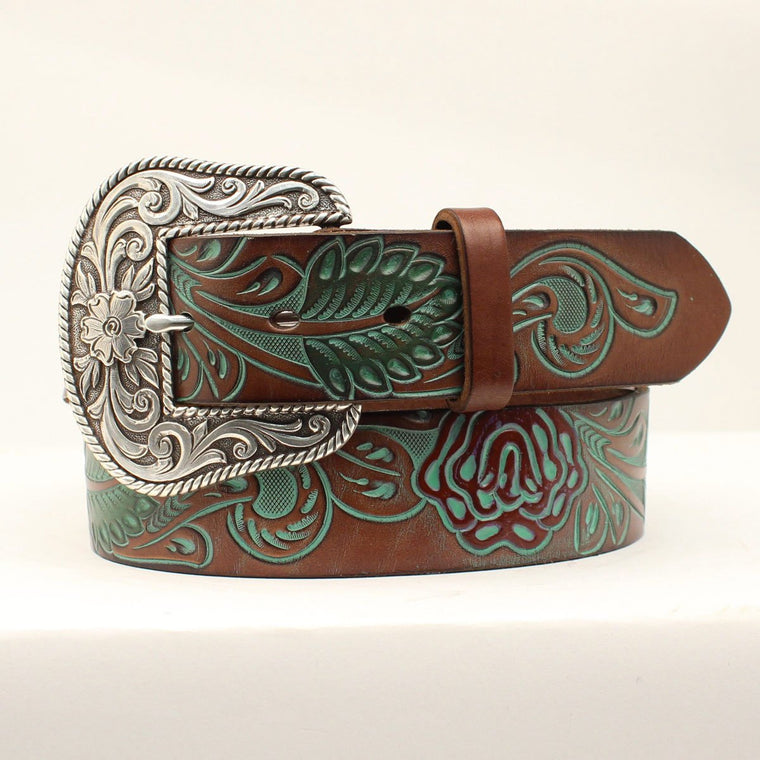 Ariat Womens Western Belt Chocolate Brown
