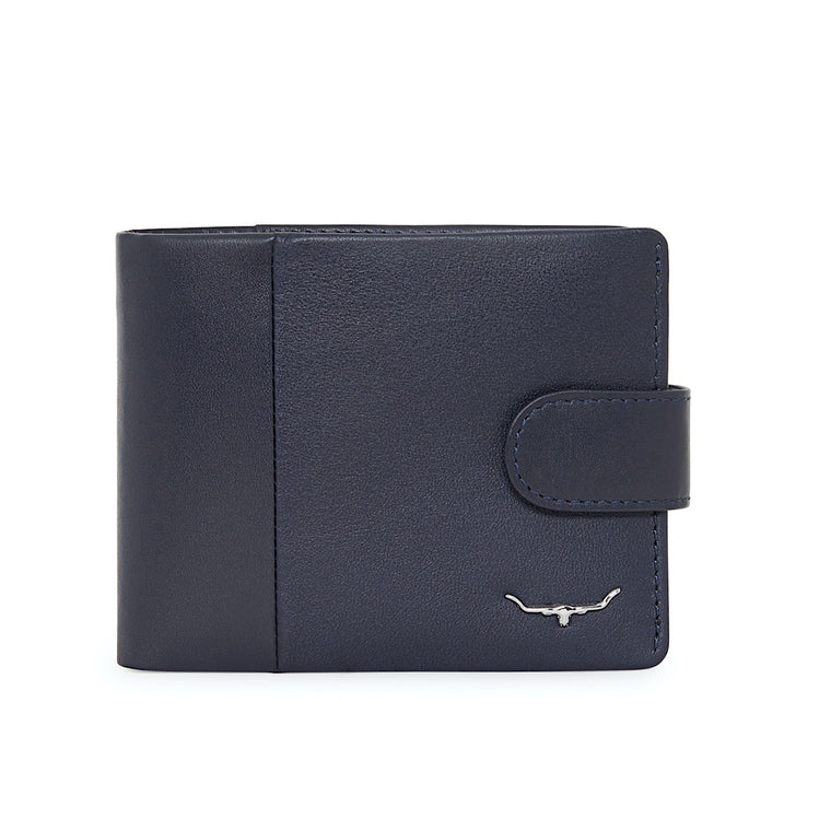 R.M.Williams Navy Mens Wallet with Coin Purse and Tab