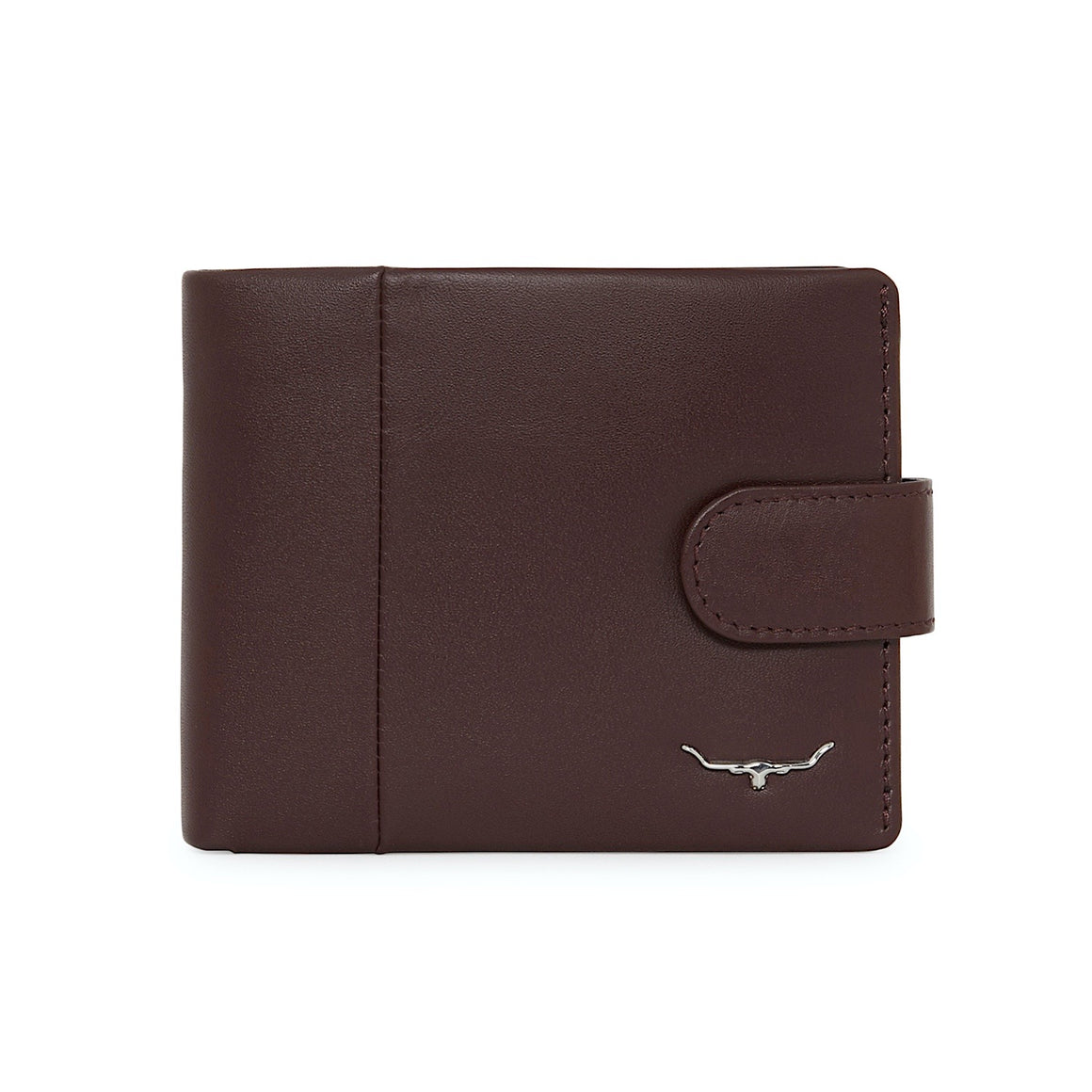 R.M.Williams Wine Mens Wallet with Coin Purse and Tab