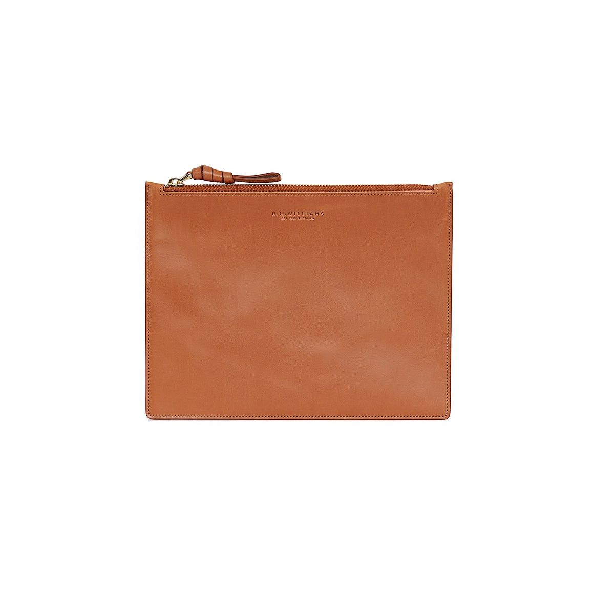 R.M.Williams Womens City Clutch Tan