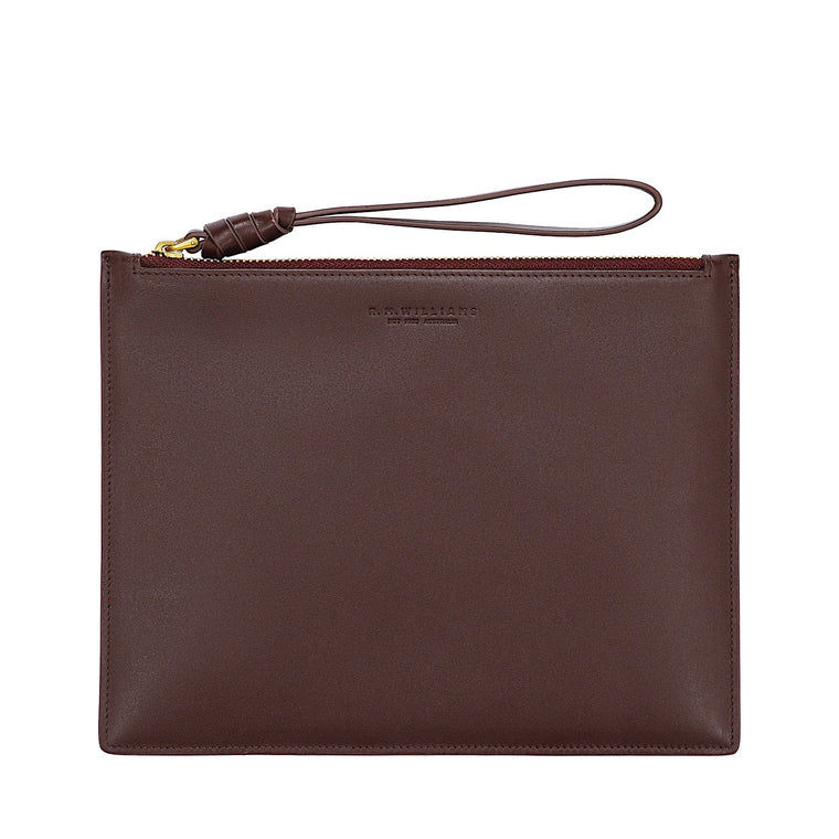 R.M.Williams Womens Small Clutch Bag Wine