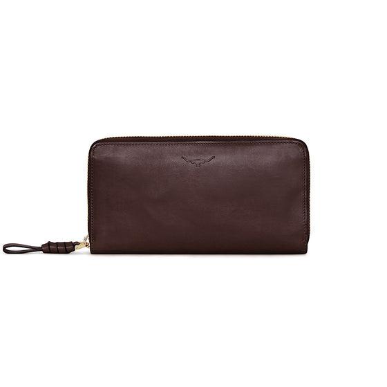 R.M.Williams Womens City Long Zip Wallet Chestnut CLM0ECH410100