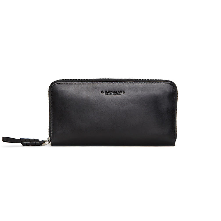 R.M.Williams Womens City Long Zip Wallet Black CLM0SCH020100