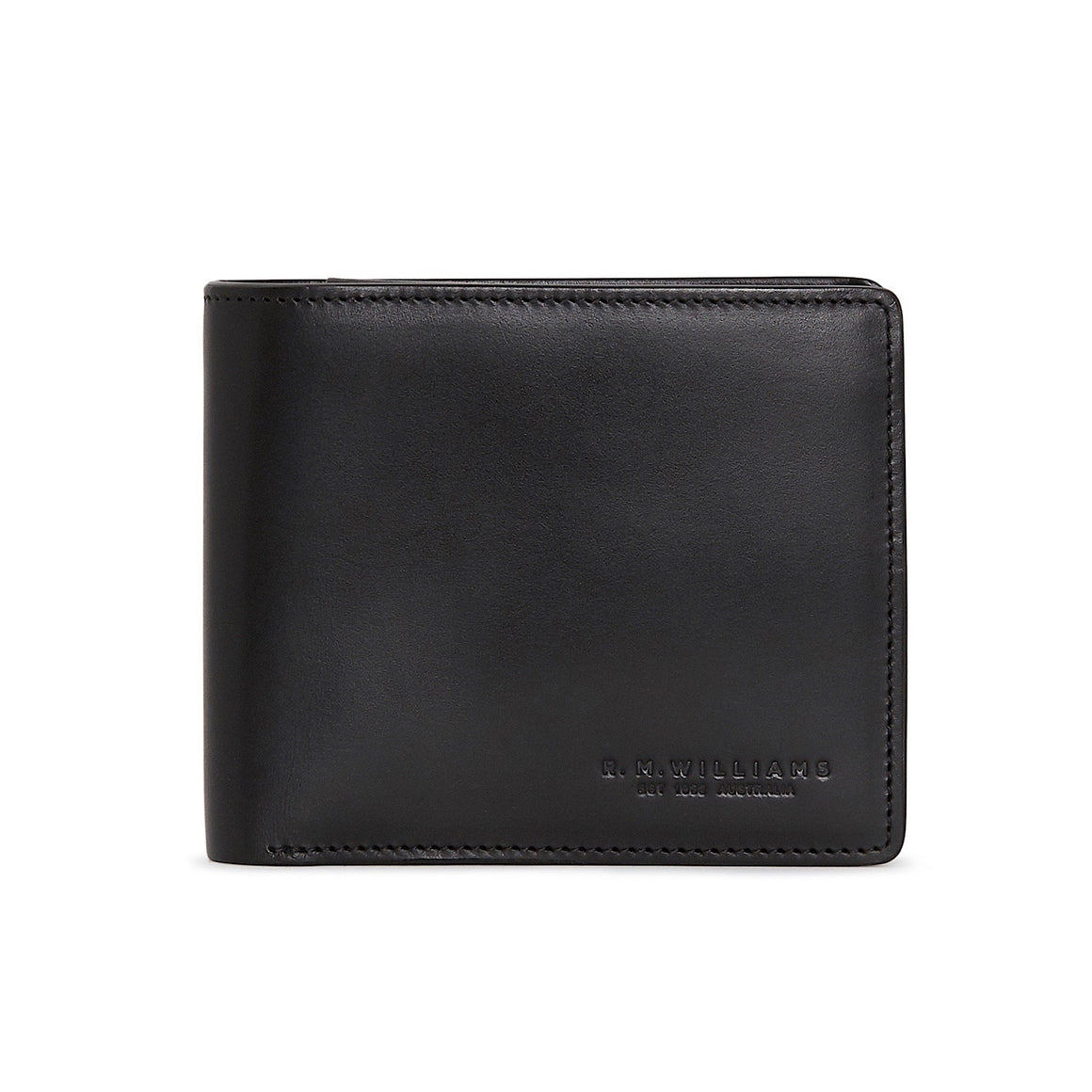 R.M.Williams City Black Wallet with Coin Pocket