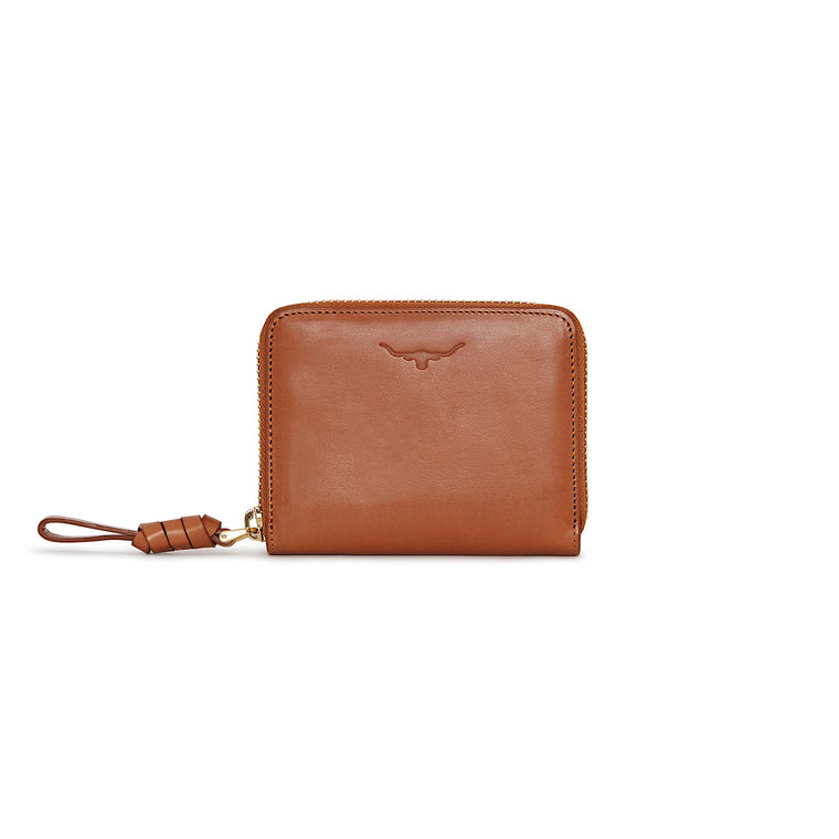 R.M.Williams Womens City Short Zip Wallet Tan