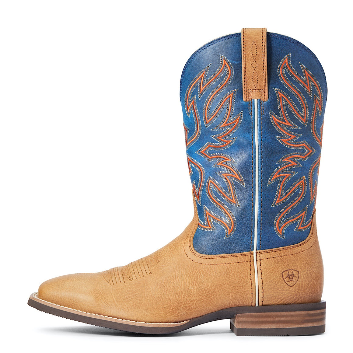Ariat Mens Everlite Vapour Western Boot Palomino/Tractor Blue