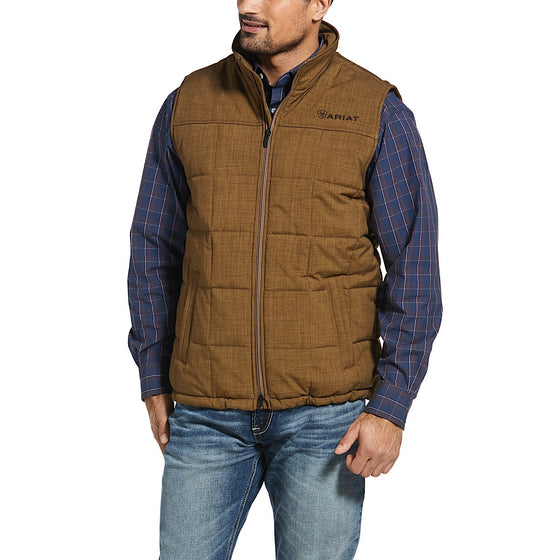 Ariat Mens Crius Insulated Vest Field Khaki Heather