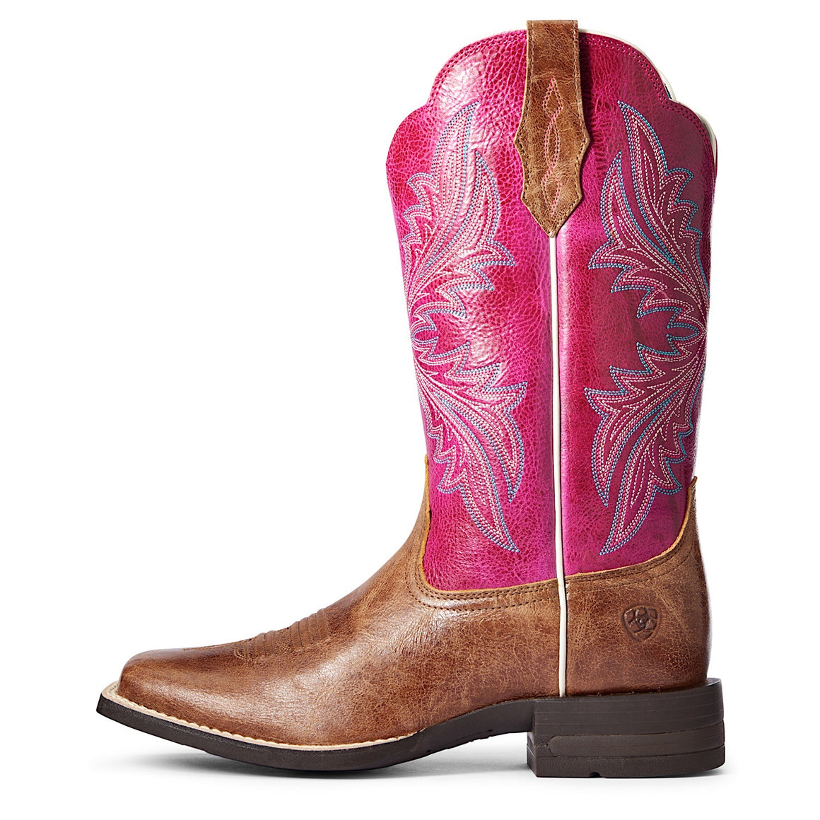 Ariat Women's West Bound Western Boot Dark Tan/Cerise