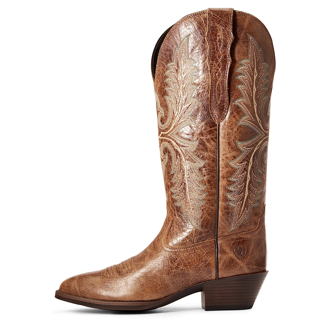 Ariat Women's Heritage Elastic Calf Western Boot Dark Tan