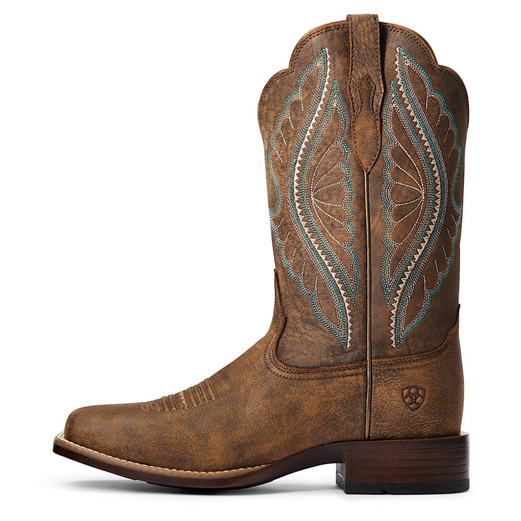 Ariat Womens Prime Time Western Boot Tack Room Brown