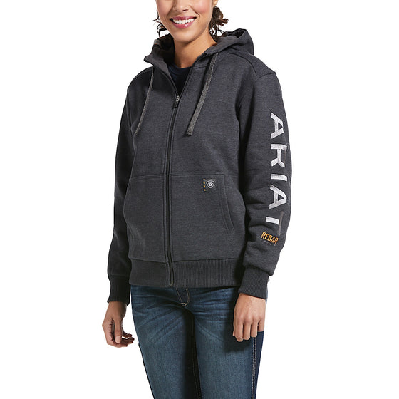 Ariat Womens All-Weather Full Zip Hoodie Charcoal Heather