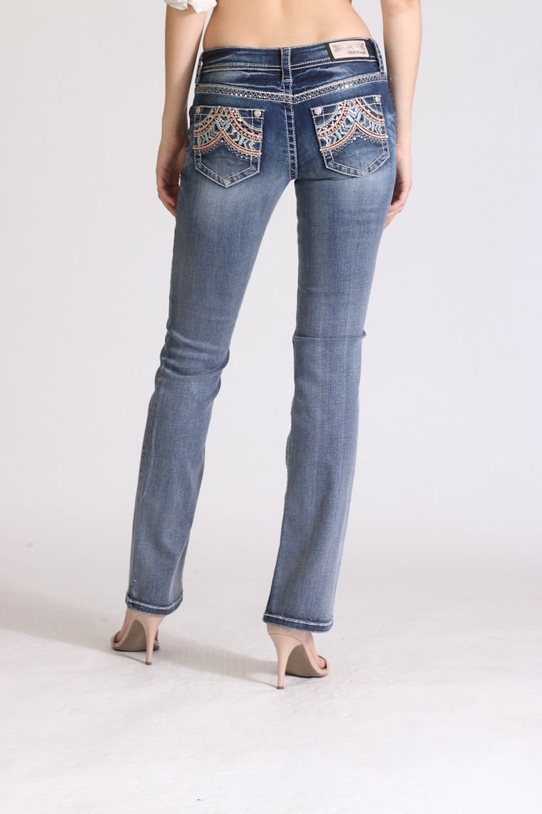Grace In La Easy Fit Bootcut Jean Western EB81290