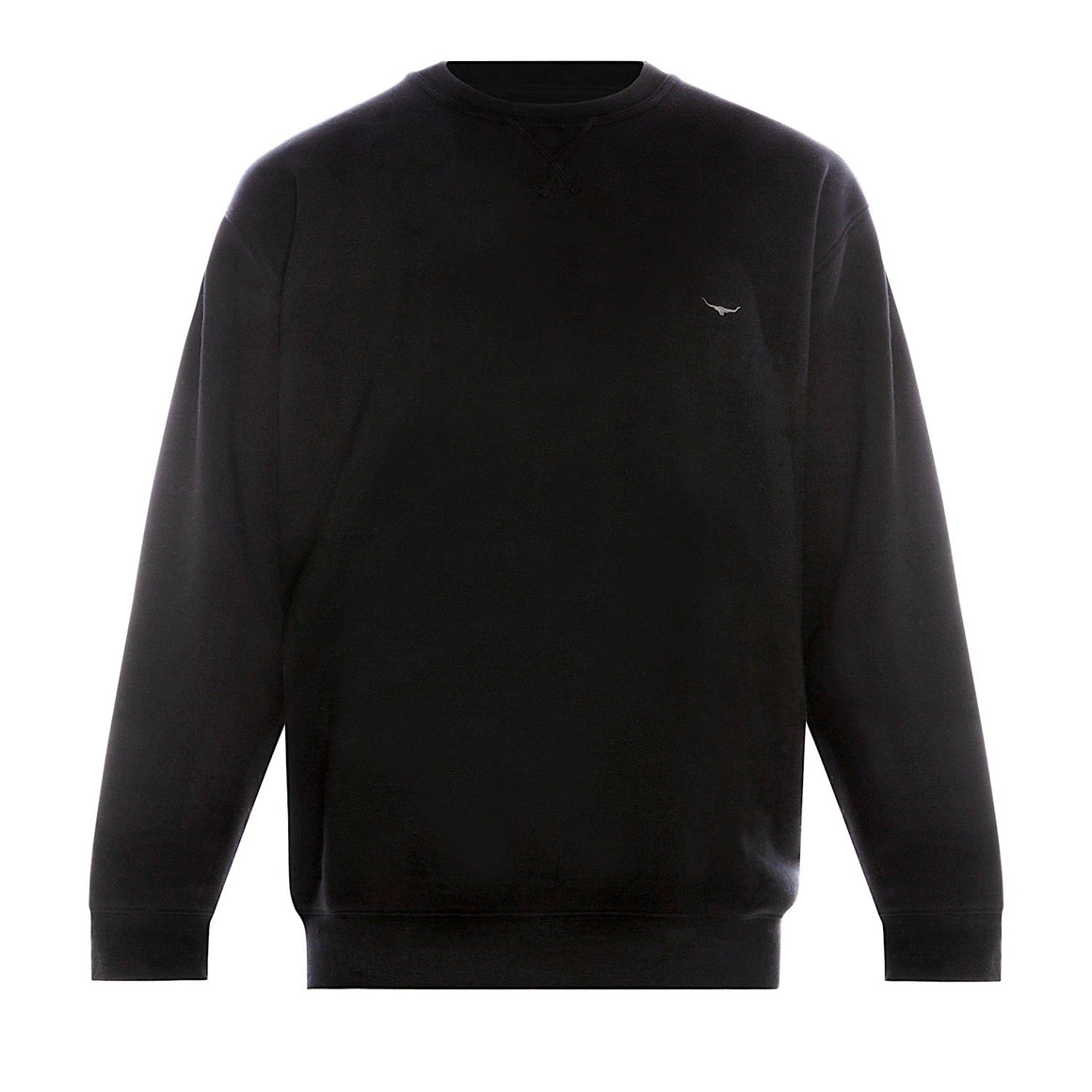 R.M.Williams Varley Crew Neck Fleece Jumper Black