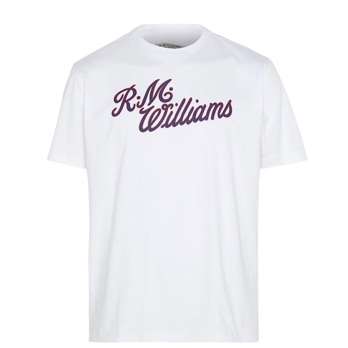R.M.W Script T-Shirt White/Red