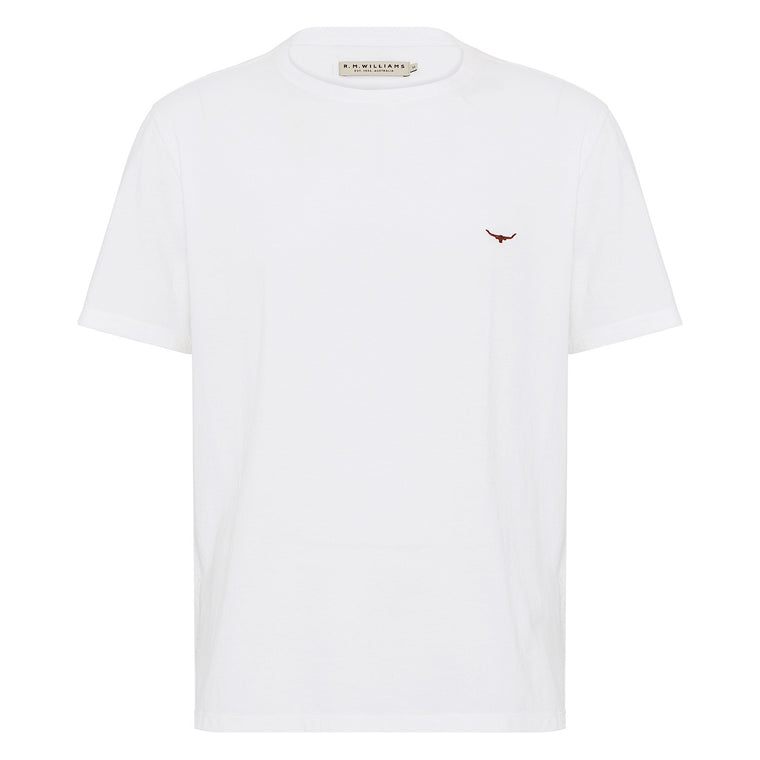 R.M.Williams Parson T - Shirt White/Chestnut