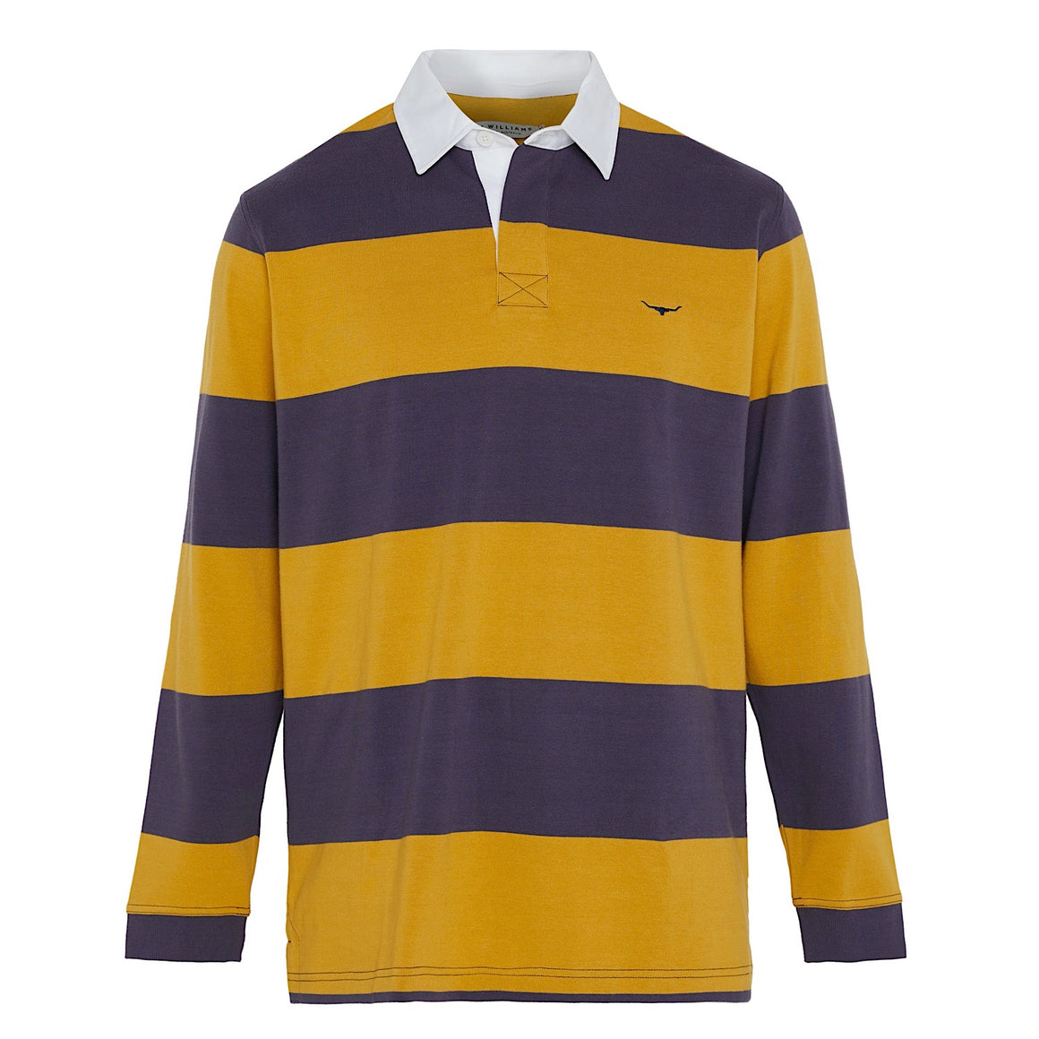 R.M.Williams Tweedale Block Stripe Rugby Blue/Yellow