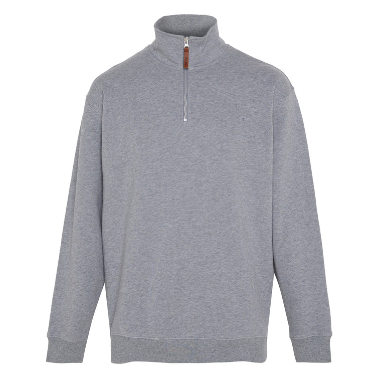R.M.Williams Mulyungarie Fleece Jumper Grey Marle Regular Fit