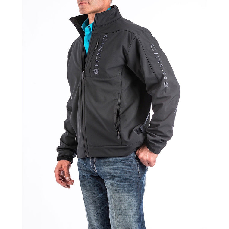Cinch Mens Bonded Clunes Jacket Black/Grey