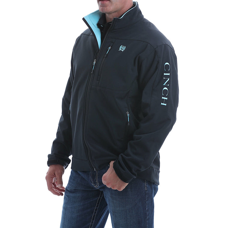 Cinch Mens Bonded Jacket Black/Blue