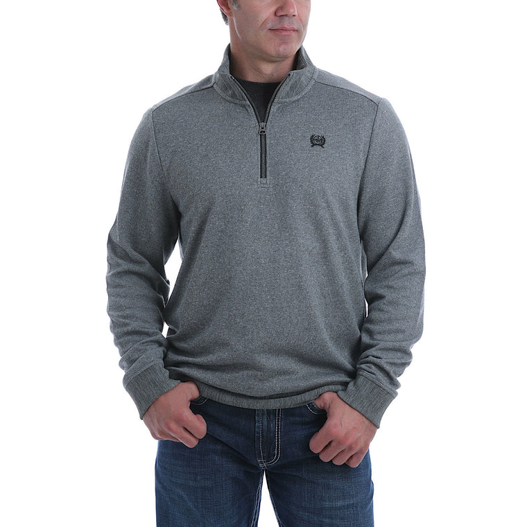 Cinch Mens Sweater Knit Pullover Grey