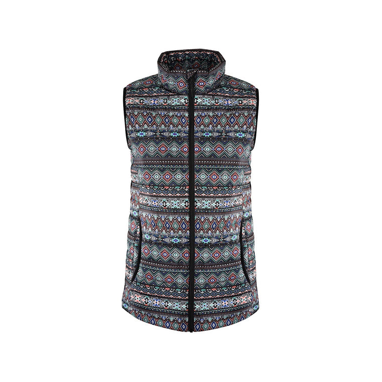 Pure Western Womens Jackie Quilted Vest Multi
