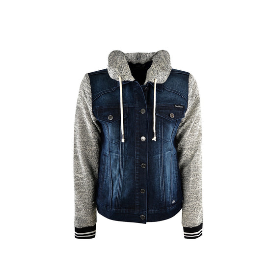 Pure Western Womens Elsa Denim Jacket Midnight/Grey
